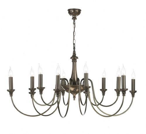Bailey 12-light Made in the Cotswolds Ceiling Light Rich Bronze BAI1263